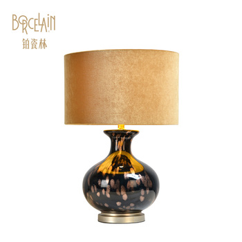 American style hotel room decoration table light glass flower lamp shade for restaurant