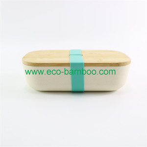 White Bamboo Fiber Bread Bin, Breading Storage Boxes, Biodegradable Food Containers