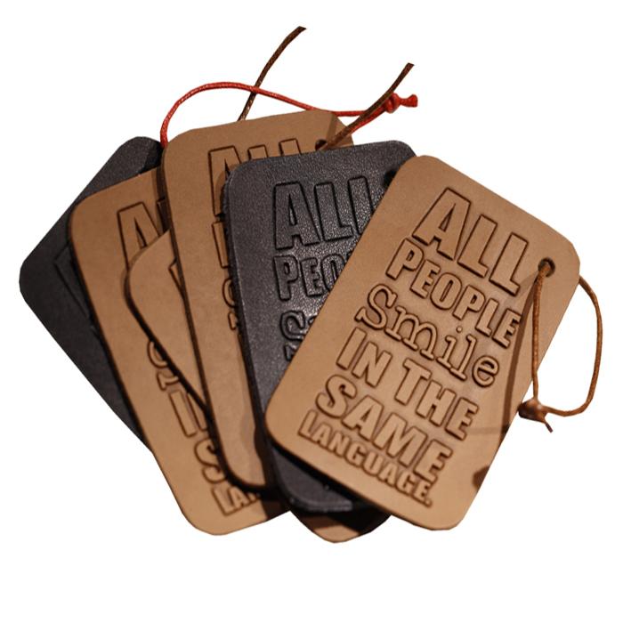 Personalized Wholesale Custom Embossed Brand Name Logo Pu / Genuine Leather Travel Bag Luggage Tag