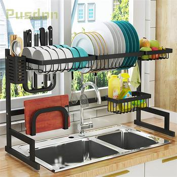 Black Metal Kitchen Space Save Over Sink Dish Drying Rack Buy Dish Drying Rack Sink Rack Dish Rack Product On Alibaba Com