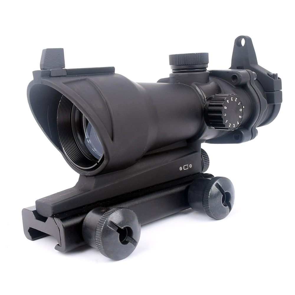 SPINA Tactical ACOG Scopes 1x32 Red Green Dot Adjustable Illuminated Laser Sight Rifle Scope for 20mm Rail Mount, Black