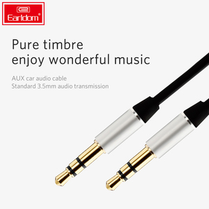 EARLDOM 3.5mm Jack audio cable Jack 3.5 mm Male to Male Audio Aux Cable For Samsung S10 Car Headphone Speaker Wire Line Aux Cord