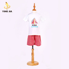 High quality baby clothes applique summer spring children clothing sets