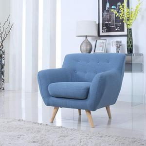 Hotel room elderly mobile single seat chesterfield sofa arm chair round