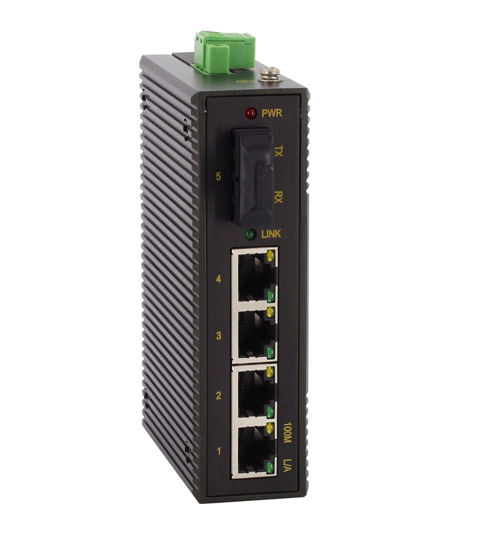 De 5 puertos de 10/100 Mbps Industrial no gestionado carril Din de red Ethernet Switch 24 V