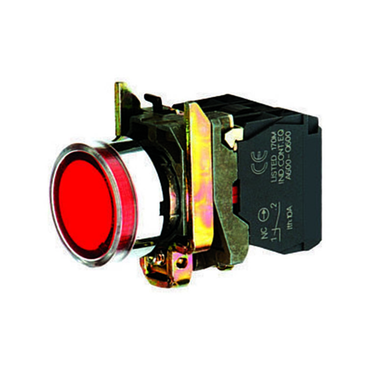A1 1NC Red Round Cap Economy Electronic LED Integrated Lamp Block Switch