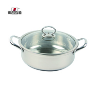 26cm 304 Stainless Steel Wholesale High Quality thick soup cooker with Professional double bottom hot pot