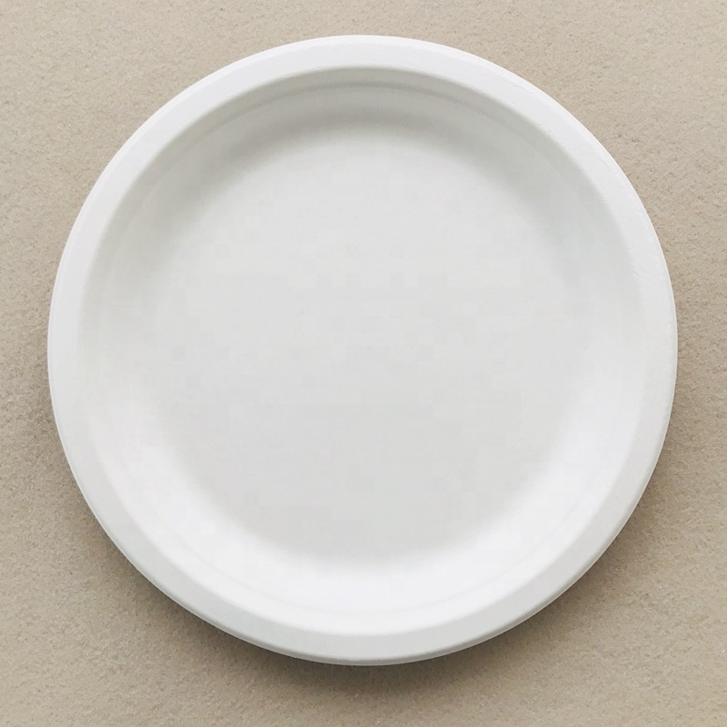 100% Biodegradable Sugarcane Fiber Baggasse Round <strong>Plate</strong>