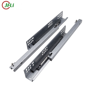 Full extension push open soft close table slide rail concealed ball bearing drawer slide