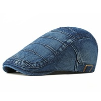 Denim Newsboy Cap Blue Ivy Hat Flat Caps