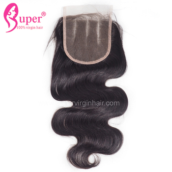 Purchase Best 100% Human Hair Extensions 3 Part 4 4 Top Lace Closure Full Sew In With Weave