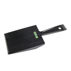 Man Flat-Topper Hair Cutting Push Head Shovel Fork Comb With Bubble Level For Barber