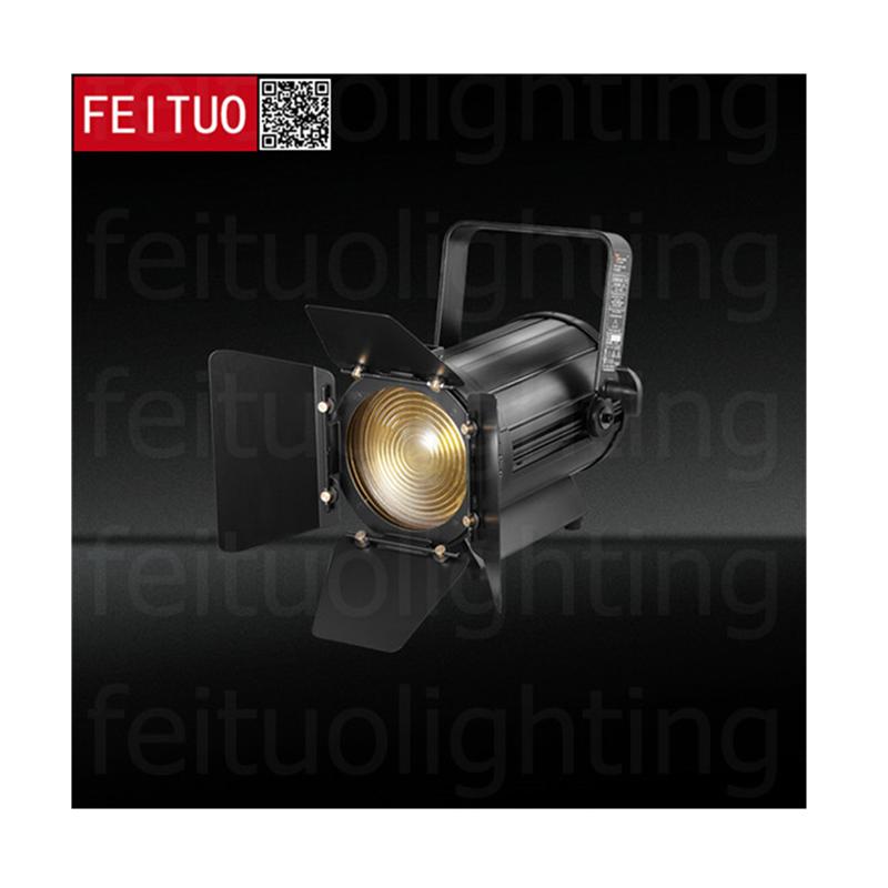 New Mini Led Fresnel Light 100w LED Zoom Theater Studio Light Warm Cool White/RGBW 4IN1 LED Fresnel Lighting Profile Spotlights
