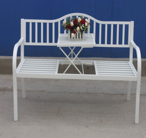 Hot Sale 2 Seater Outdoor Garden Patio Bench Steel Powder Coated