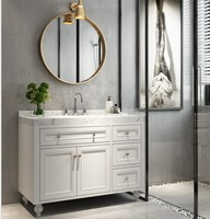 Customized Modern Solid Wood Bathroom Vanity With Mirror Glass ,bathroom mirror vanity