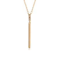 43895 xuping 18k gold plated fashion stick shaped bar pendant necklace