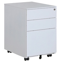 Good quality office storage equipment mobile steel 3 drawer filling cabinet