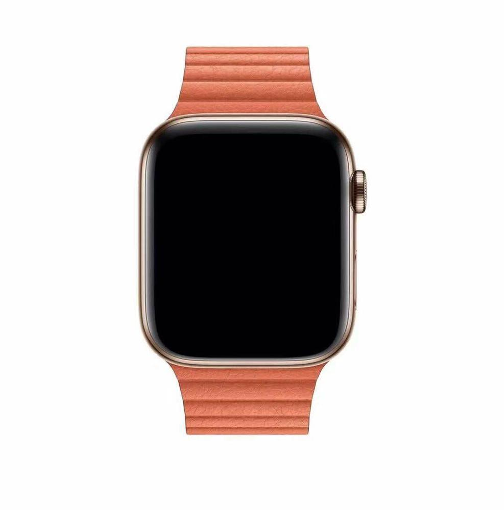 Alibaba.com / Magnetic Leather Loop watch Band strap For Apple Watch 38mm 40mm 42mm 44mm