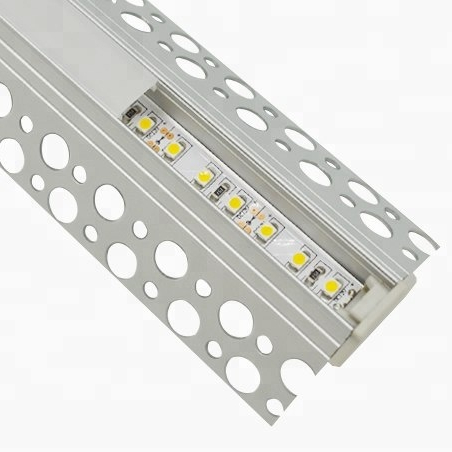 Trimless LED profiles, anodized silver alu profile, led corner channel for strips light