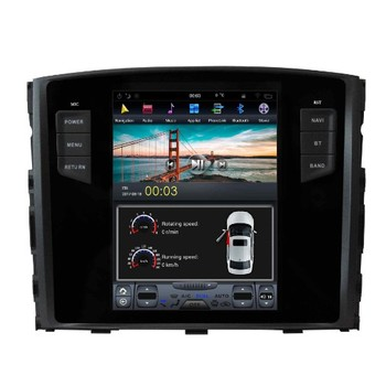 "Vertical Screen Tesla Style android 7.1 10.4"" for mitsubishi pajero 2007-2016 android car dvd 4G touch screen"
