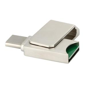 USB 3.1 Aluminum Alloy OTG Type-CTF Card Reader Adapter for Phone PC