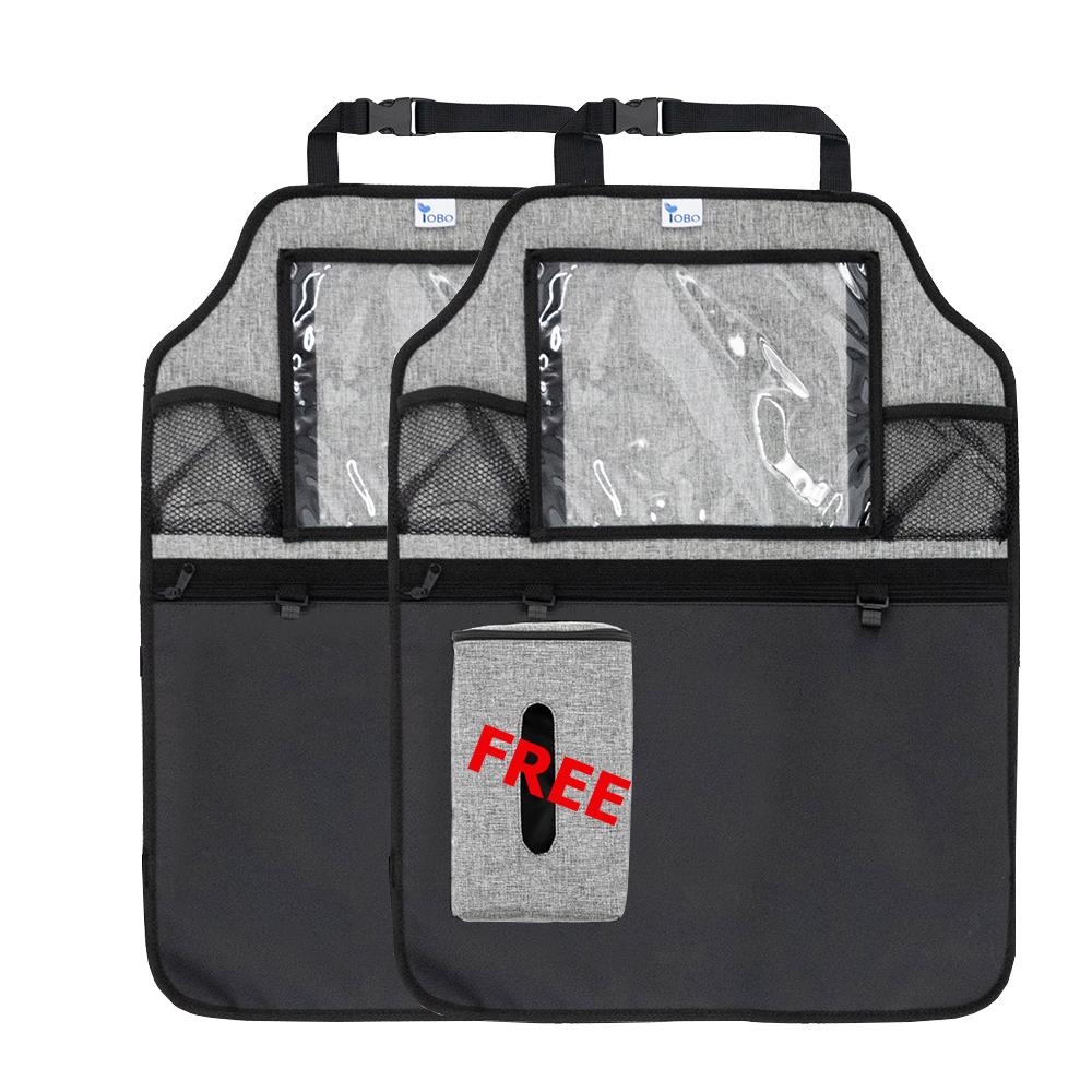 Pack de 2 iPad coche asiento impermeable iPad coche organizador del almacenamiento asiento trasero del coche organizador con el titular de la tableta