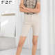 Wholesale Khaki Bermuda Denim Shorts Women