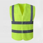 Yellow wholesale polyester en471 customised custom print high quality en471 reflector mesh safety vest