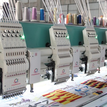 22 heads chenille mixed computerized logo embroidery machines industrial