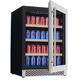CB/CE/ROHS/CSA 198 Cans fridge refrigerator Single Zone Compressor Built-in Electric Beverage Display Cooler