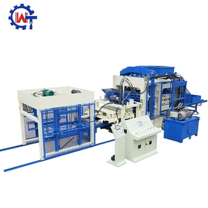 Hollow concrete block mould QT9-15 cement block production line brick making machine