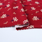 Shaoxing textile city new design knitted jersey stretch rayon floral red fabric for dresses
