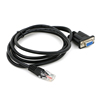high quality custom usb rs232c rs232 to rj45 rj11 rj12 serial panel mount cable