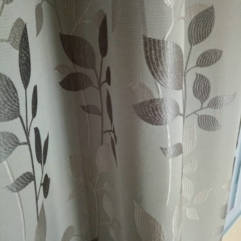 Light Grey Luxury Jacquard Curtains Ready Made For The Living Room Elegant Polyester Printing Curtain