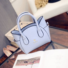Bag 2019 New Shoulder Bag Female Handbag Japan And South Korea Toothpick Pattern Handbags Messenger Bag Cat Wings Package