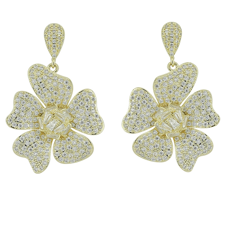 <strong>earring</strong>-247 xuping plated 14k <strong>gold</strong> <strong>flower</strong> <strong>earrings</strong>, luxury <strong>earrings</strong> for women