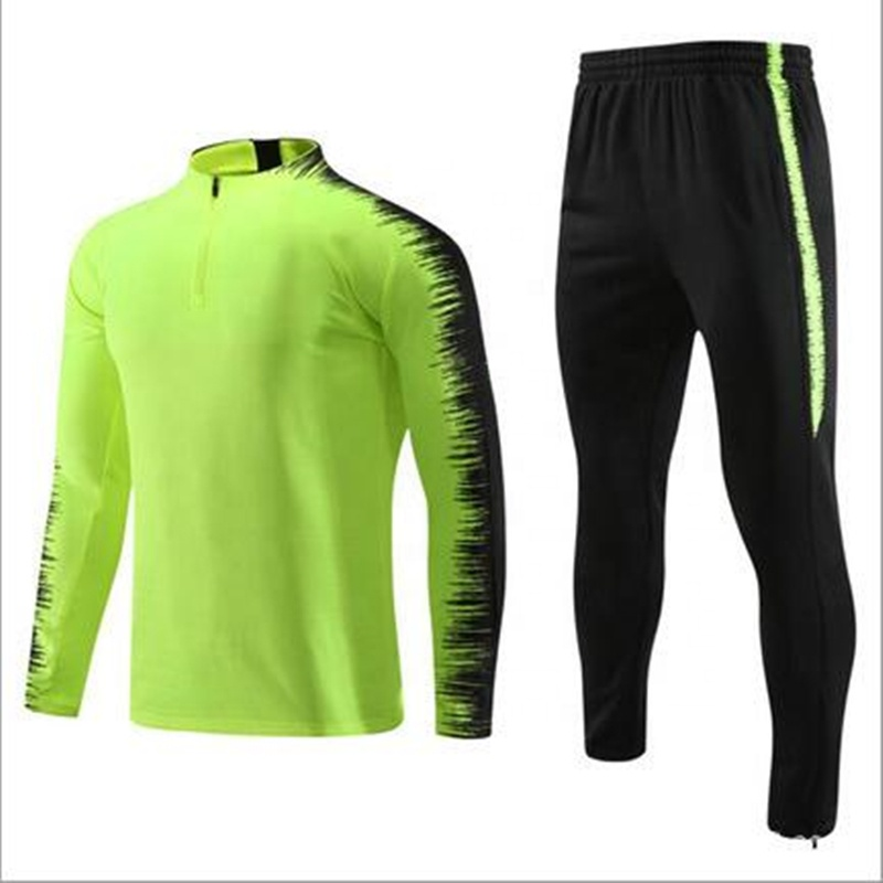 Outdoor 2019 Design Gym Training Soccer Tracksuits Top Thailand Quality, Any color is available