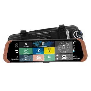 rear view mirror gps 3g car dvr for remote access