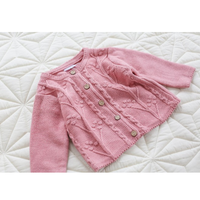PHB 21265 solid color spring 2019 baby girls toddler cotton cardigan