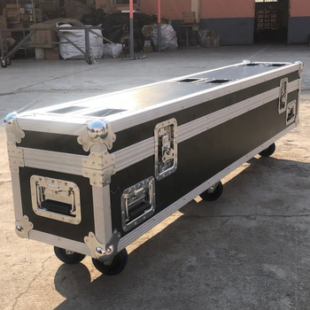 Factory customized big aluminum flight case tool guitar black aluminum alloy case with wheel stackable