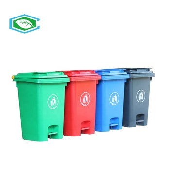 80L 415*500*645 mm plastic outdoor garbage Recycling trash bin