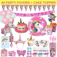 Umiss Paper Perfect Birthdays Kids Fiestas Weddings and Holiday Decorations Factory OEM Unicorn Party Supplies Set