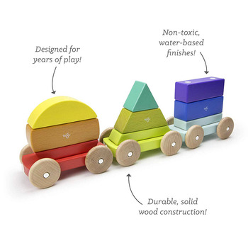 Custom Cartoon colored creative irregular shape stacking game wooden toy building blocks toy set with car for children