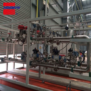 Gas mixing skid of O2 & NG