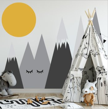Mountains Woodland Baby Nursery Wall Decal,Nursery Decor Removable Wall  Decal Sticker For Kids Room Nursery - Buy Mountains Woodland Wall ...