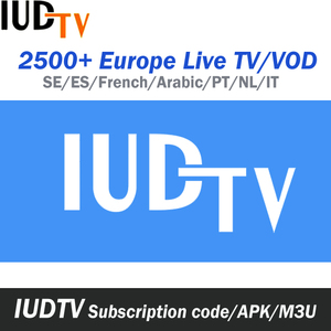 IUDTV IPTV Channels Account 1 Year Balkan IPTV Romania Channels Arabic French Indian Channel Android Box M3U IPTV Code