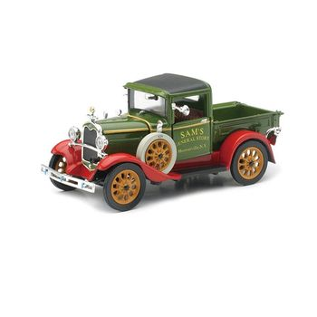 Customized 1931 Ford Model car A Diecast Classic Car model Collection Pickup Truck - Green - 1:32 Scale
