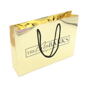 Holographic paper customised gift bags for jewelry packaging