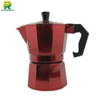 Classic Custom Color Painting Coffee Machine Moka Espresso Maker
