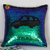 Luxury 40*40 Magic Glitter Square Reversible Sequin pillow cas